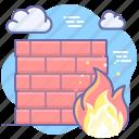 wall, fire, security, firewall