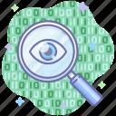 spy, inspect, search, data, eye