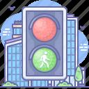 traffic, lights, pedestrian icon