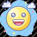 emoji, happy, smile, good icon