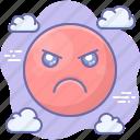 emoji, angry, bad icon