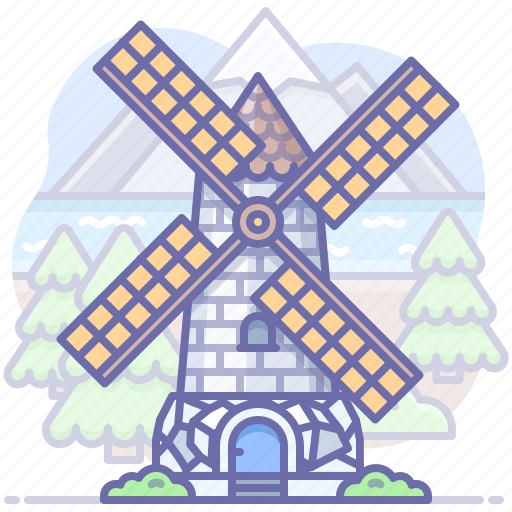 Mill, village, windmill icon - Download on Iconfinder