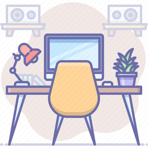 Desk, interior, workplace icon - Download on Iconfinder