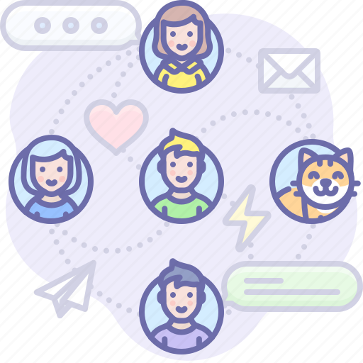 communication, connections, social icon