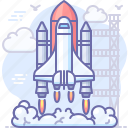 launch, rocket, shuttle, space icon