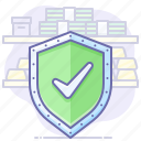 money, security, shield icon