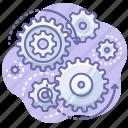 control, process, gears