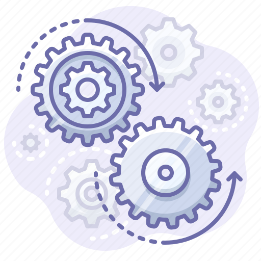 control, gears, process icon