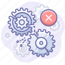 gears, process, error