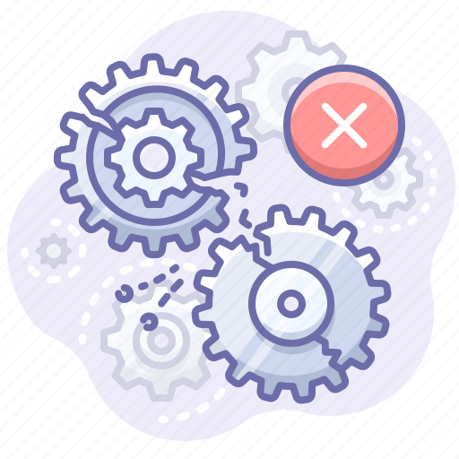 Gears, process, error icon - Download on Iconfinder