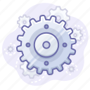 control, gear, process icon