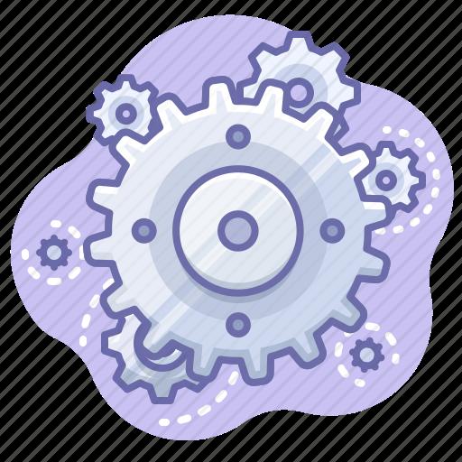 control, gear, process icon