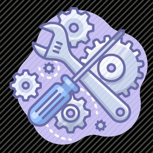 control, gears, screwdriver icon