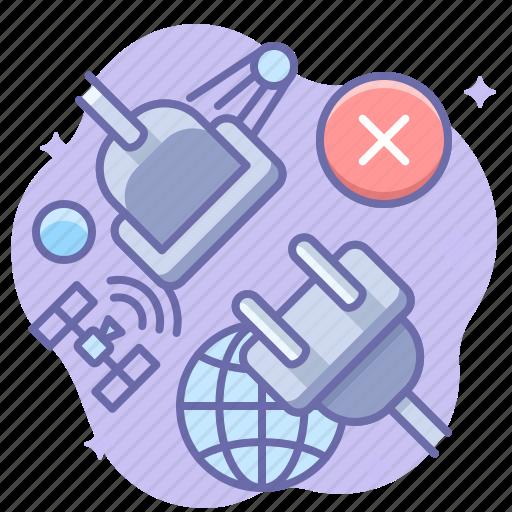 disconnect, internet, offline icon