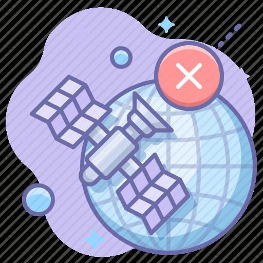 globe, offline, satellite icon