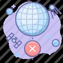 globe, internet, offline icon