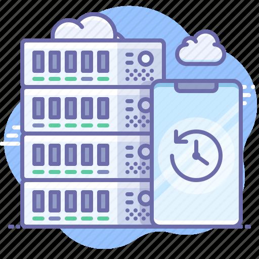 backup, server, smartphone icon