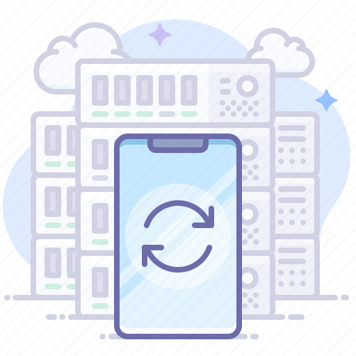 Server, sync, smartphone icon - Download on Iconfinder