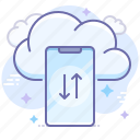 cloud, smartphone, transfer icon