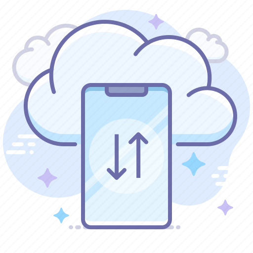 cloud, smartphone, transfer icon
