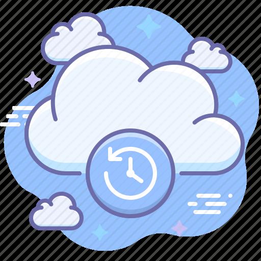 backup, cloud, time machine icon