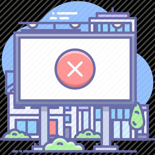 Adblock, board, outdoor icon - Download on Iconfinder