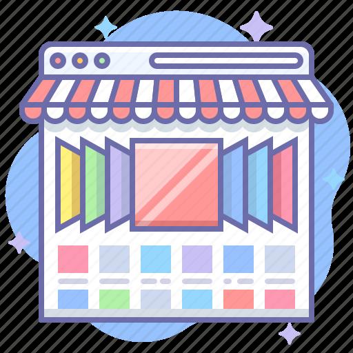 online, shop, showcase icon