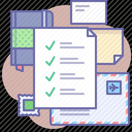 checklist, list, tasks, to do icon