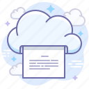 cloud, document, print icon