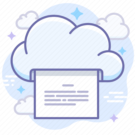 Cloud, print, document icon - Download on Iconfinder