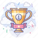 winner, award, cup