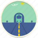 cactus, desert, landscape, scenery, train, transport, tunnel icon