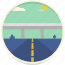 cactus, flyover, highway, landscape, roadway, transport, travel icon