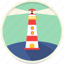 direction, lighthouse, navigation, sea icon