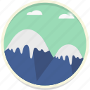 mount, mountain, peak, sky, snow, summit, tourism icon