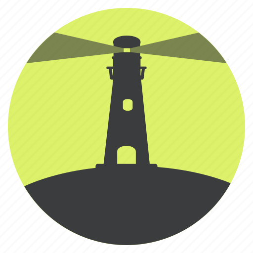 direction, guide, light, lighthouse, navigation, sea, tower icon