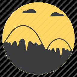 mount, mountain, peak, sky, snow, summit, tourism icon