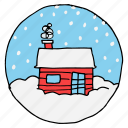 chimney, christmas, cottage, eskimo, newyear, north pole, snowfall icon