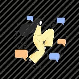 communication, woman, chat, conversation, message