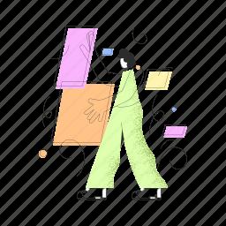 design, woman, man, shapes, graphic