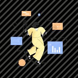 web, development, woman, graph, chart, statistics