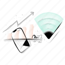 connection, wifi, signal, internet, arrow