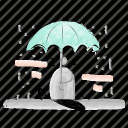 protection, safe, prevention, umbrella