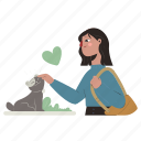 pets, animals, woman, person, cat, pet, animal, love, heart