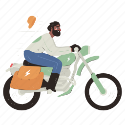 transportation, delivery, bike, motorbike, motorcycle, man, deliver, express, shipping