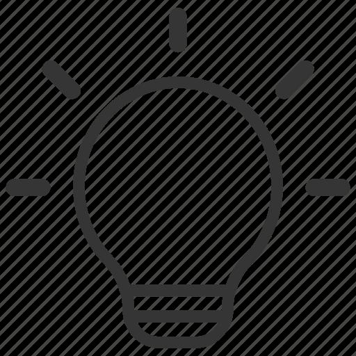 idea, light bulb, think, thinking skills icon