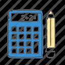 calc, calculator, math, stats icon
