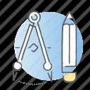 design, draw, pencil, tools icon