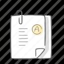 grades, knowledge, study, test icon