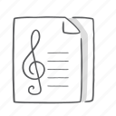 music, musical, notes, song icon